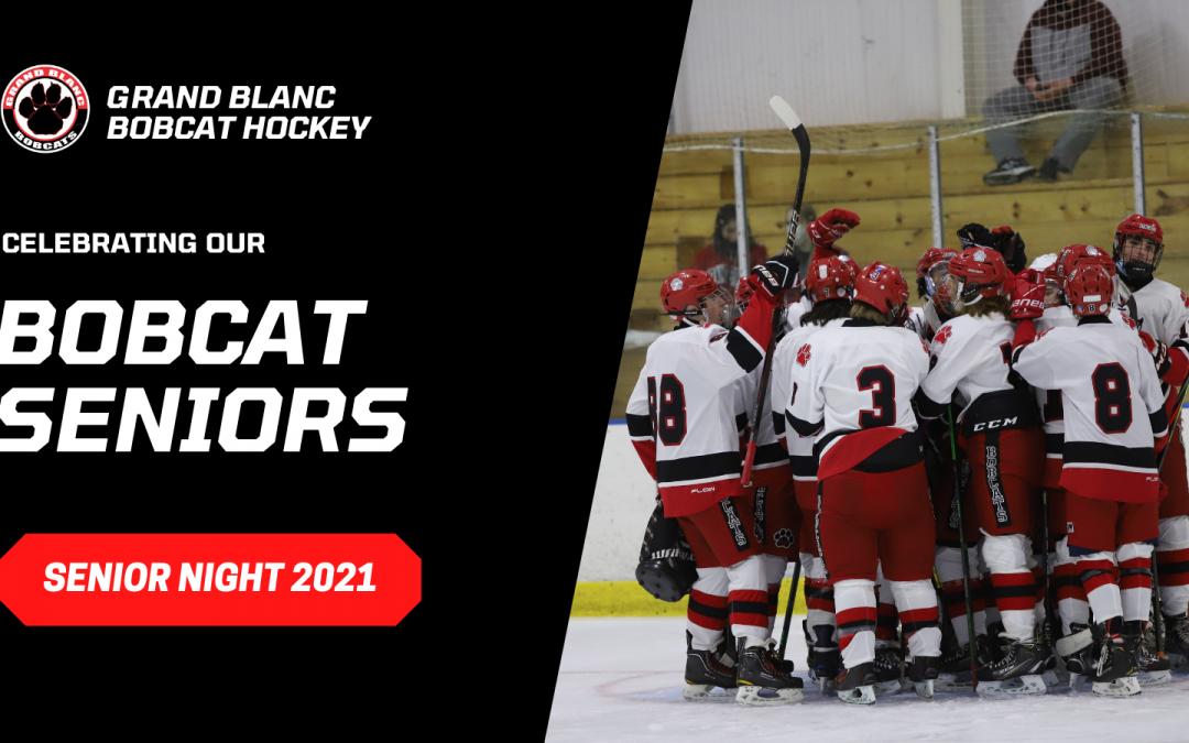 Grand Blanc Hockey Senior Night 2021